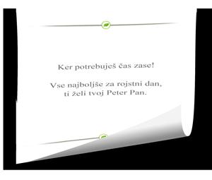 Darilni bon Dermal sporočilo